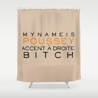 Accent à Droit - Orange… Shower Curtain