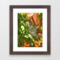 Shiny Framed Art Print