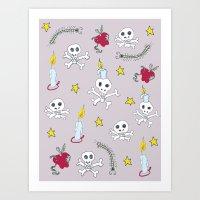Voodoo Skulls Art Print