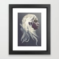 Mother Of Dragons Framed Art Print