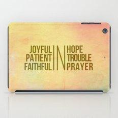 Romans 12:12 Joyful | Fa… iPad Case