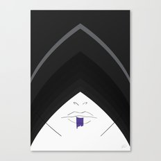 ... the hood was adopted to give her a more mysterious, stealthy look.  Canvas Print