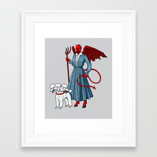 Devil With A Blue Dress On Framed Art Print