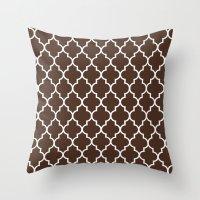 Marrakesh Coffee Throw Pillow