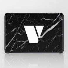 Black Marble - Alphabet V iPad Case