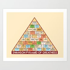 ron swanson's pyramid of greatness Art Print