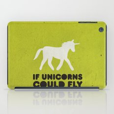 If unicorns could fly. iPad Case