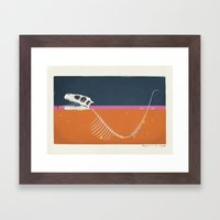 Burying The Line After A… Framed Art Print