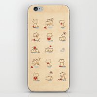 Cats and hearts iPhone & iPod Skin