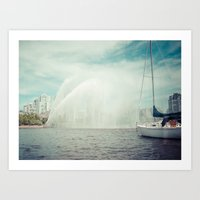 Spray Art Print