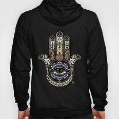 Sacred Defender - Hamsa Mystical Hand To Ward Off Evil Hoody