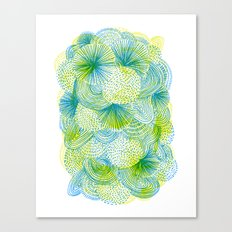 Space lime Canvas Print