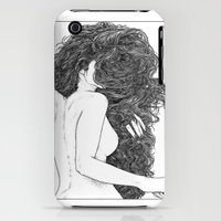 iPhone 3Gs & iPhone 3G Cases featuring Apollonia Saintclair 590 - 20150826 Le peigne (Combing her hair) by From Apollonia with Love