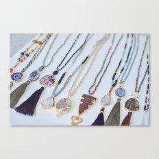 Quest Stones Boho Jewelry Canvas Print