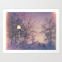 Bird House Polaroid Art Print