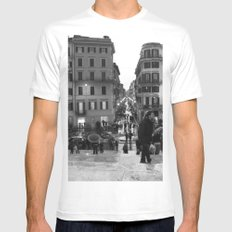 A Nice Day to be a Tourist White SMALL Mens Fitted Tee