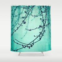 Fog of Green Shower Curtain