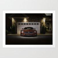 Mercedes-AMG GT S Front Fascia Art Print