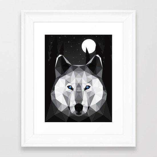 The Tundra Wolf Framed Art Print