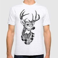 Mr Deer Mens Fitted Tee Ash Grey SMALL
