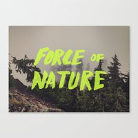 Force Of Nature X Cloud … Canvas Print