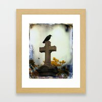 Gothic Glow Of Fall Framed Art Print