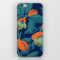 Tropical orange fruit tree iPhone & iPod Skin