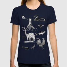 Into the wild Womens Fitted Tee Navy SMALL