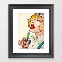 Poison Nurse Framed Art Print