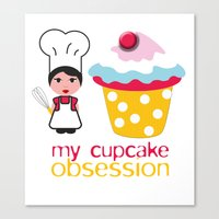Cupcake Obsession Canvas Print