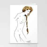 Plait Girl Stationery Cards