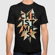 Christmas Sparkle Mens Fitted Tee Tri-Black SMALL