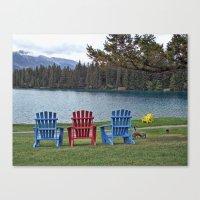 Three Chairs Canvas Print