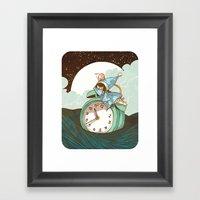 Sleep Fairy Framed Art Print