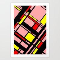 Grid Pattern 10 Art Print