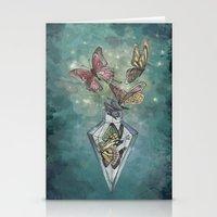 Butterfly Bottle  Stationery Cards