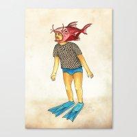 Pescado Canvas Print