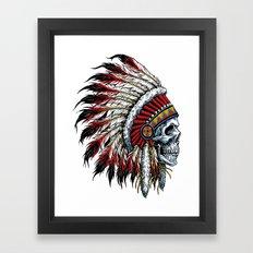 Indian Skull Framed Art Print