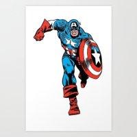 Avenger: Cap' Art Print