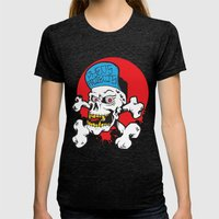 Pheo Projects Womens Fitted Tee Tri-Black SMALL