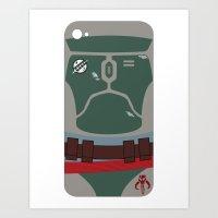 Boba Fett iPhone Case Art Print