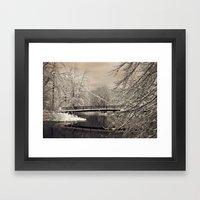 Foot Bridge Framed Art Print