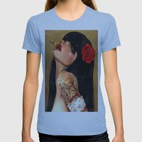 SmokingWMN Womens Fitted Tee Athletic Blue SMALL