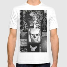 Crow And Lace White SMALL Mens Fitted Tee