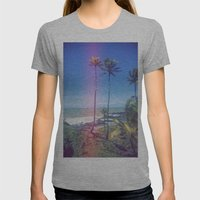 Fragmented Palm Womens Fitted Tee Athletic Grey SMALL