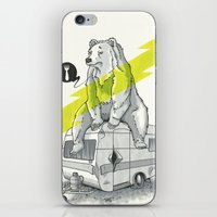 Camping Bear iPhone & iPod Skin