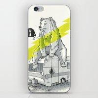Camping Bear iPhone & iPod Skin