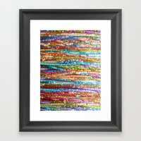 Rainbow Mosaic Framed Art Print