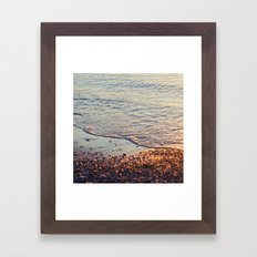 Sparkling sea Framed Art Print