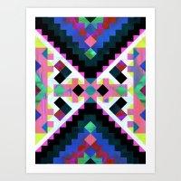 Hana Geometric Art Print